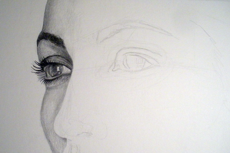 Shading the side of face