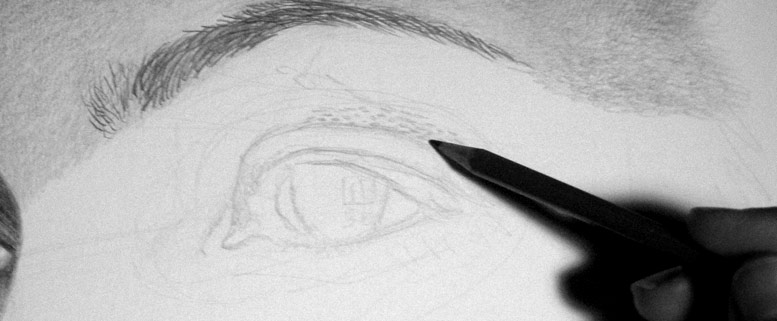 Photorealism technique:  HB before mechanical pencil