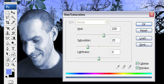 desaturating in photoshop